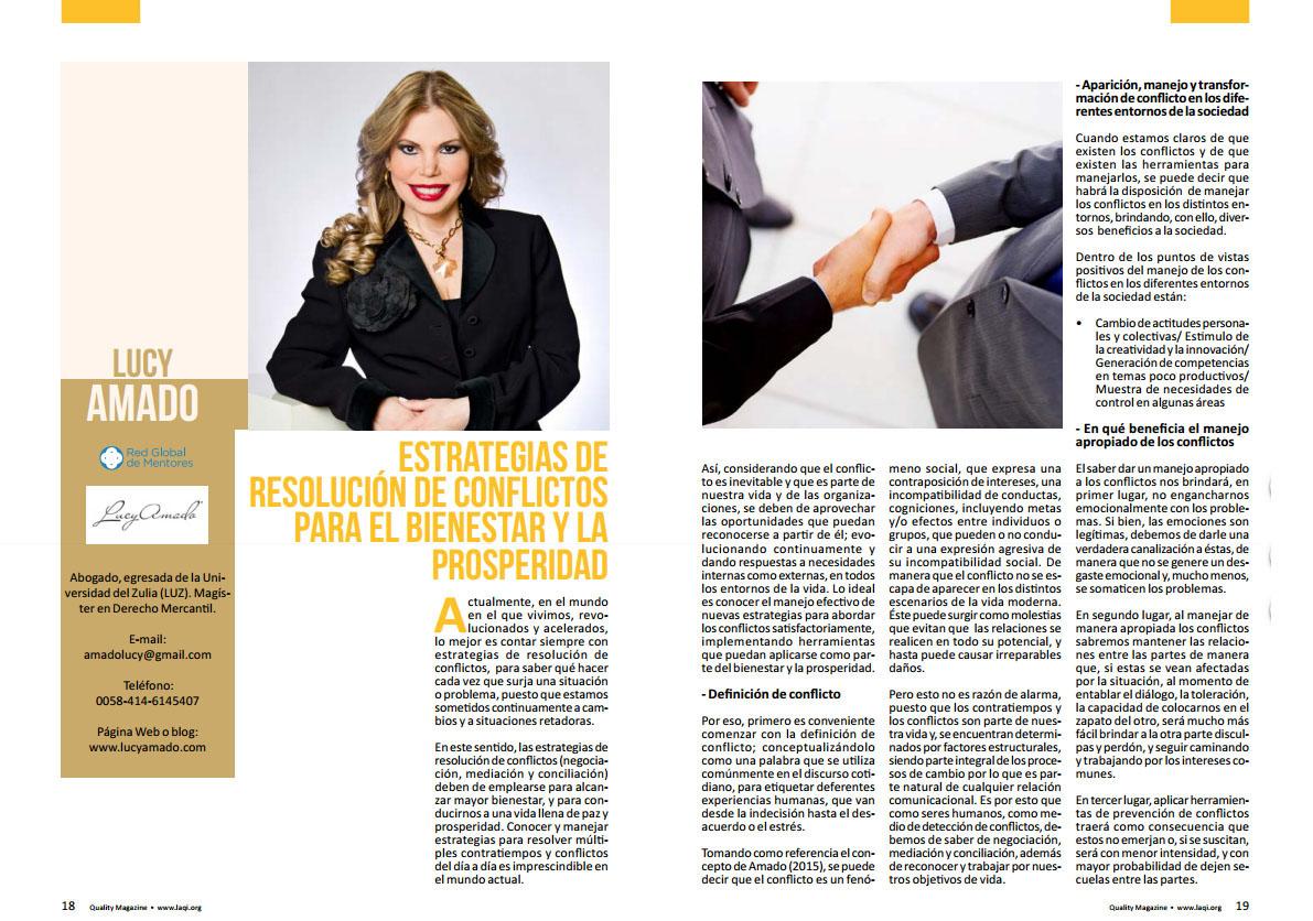 revista Quality entrevista Lucy Amado